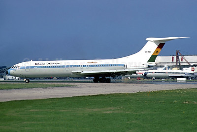 Ghana Airways Vickers VC10 Series 1102 9G-ABO (msn 823) LHR (Christian Volpati Collection). Image: 942805.