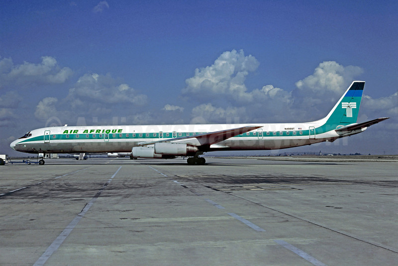 Air Afrique (Transamerica Airlines) McDonnell Douglas DC-8-63CF N4868T (msn 46091) (Transamerica colors) CDG (Christian Volpati). Image: 920030.