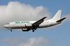 Air Ivoire (2nd)-Jat Airways Boeing 737-3H9 YU-ANV (msn 24140) LHR (Bruce Drum). Image: 101550.