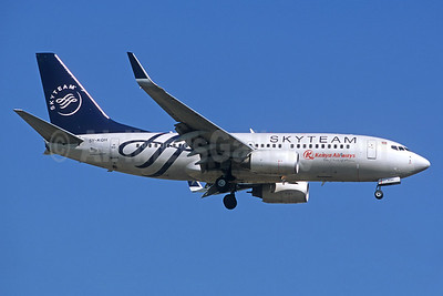 Kenya Airways Boeing 737-7U8 WL 5Y-KQH (msn 37372) (SkyTeam) JNB (Christian Volpati). Image: 936098.