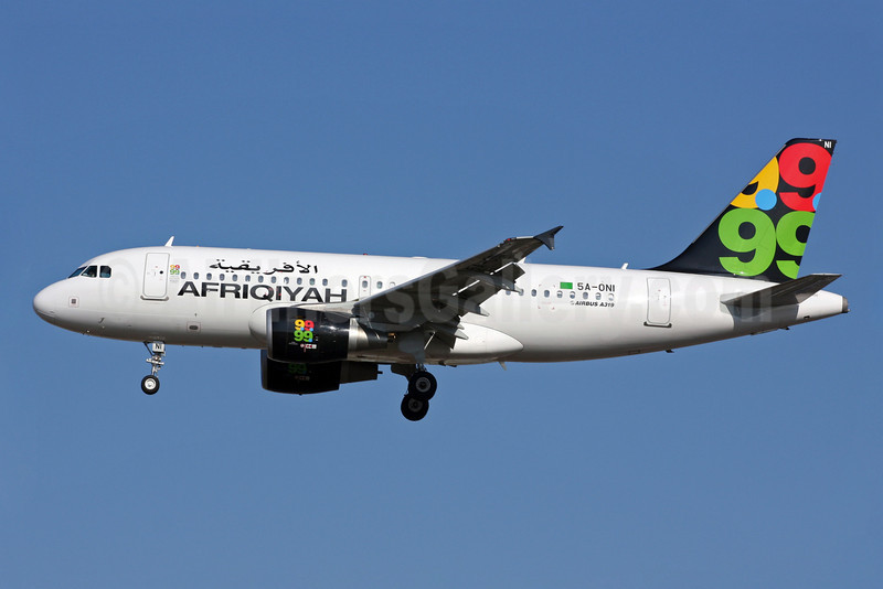 Afriqiyah Airways Airbus A319-111 5A-ONI (msn 4004) LGW (Terry Wade). Image: 904921.