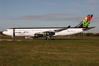 Afriqiyah Airways Airbus A340-213 5A-ONE (msn 151) STN (Pedro Pics). Image: 901257.