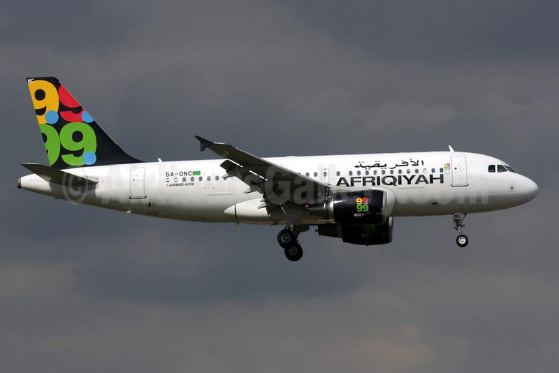 Afriqiyah Airways Airbus A319-111 5A-ONC (msn 3615) LGW (Antony J. Best). Image: 901255.