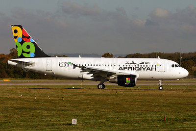 Afriqiyah Airways Airbus A319-111 5A-ONC (msn 3615) LGW (Terry Wade). Image: 902855.