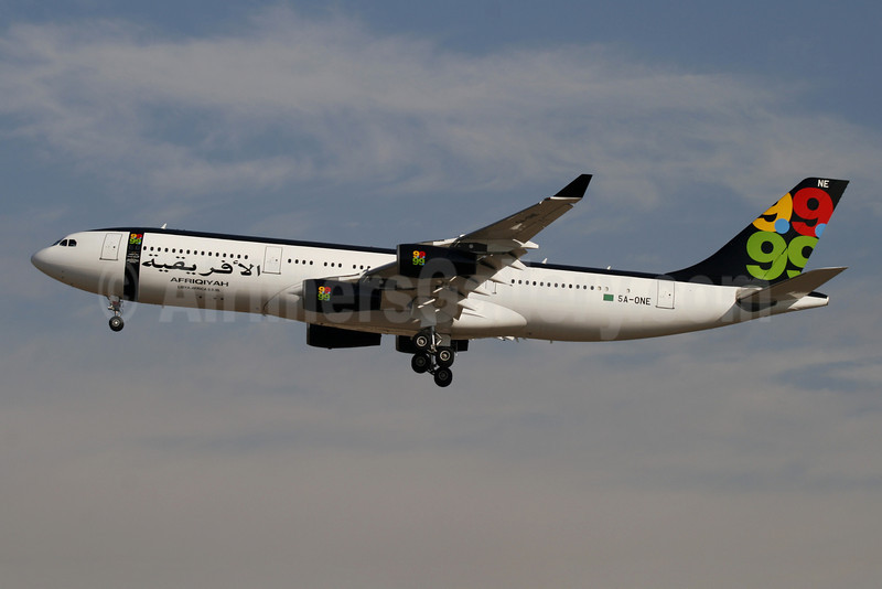 Afriqiyah Airways Airbus A340-213 5A-ONE (msn 151) MAD (Ariel Shocron). Image: 901256.