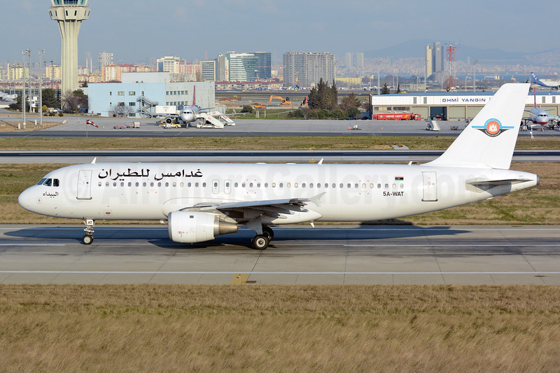 Ghadames Air Transport Airbus A320-211 5A-WAT (msn 438) IST (Nik French). Image: 927501.