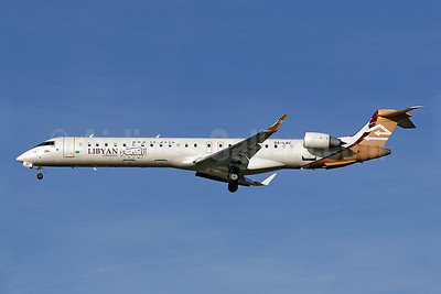Libyan Airlines Bombardier CRJ900 (CL-600-2D24) 5A-LAC (msn 15122) LHR (Keith Burton). Image: 900072.