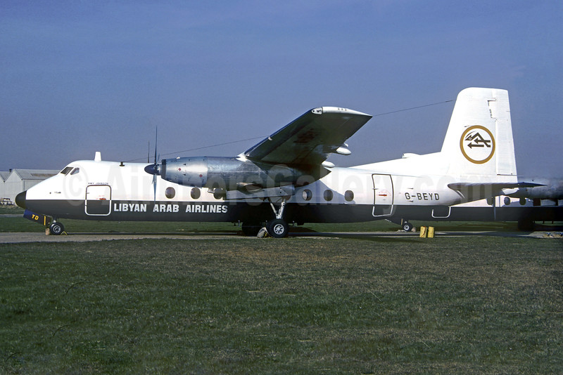 Libyan Arab Airlines Handley Page HPR-7 Herald 401 G-BEYD (msn 171) SEN (Christian Volpati Collection). Image: 932146.