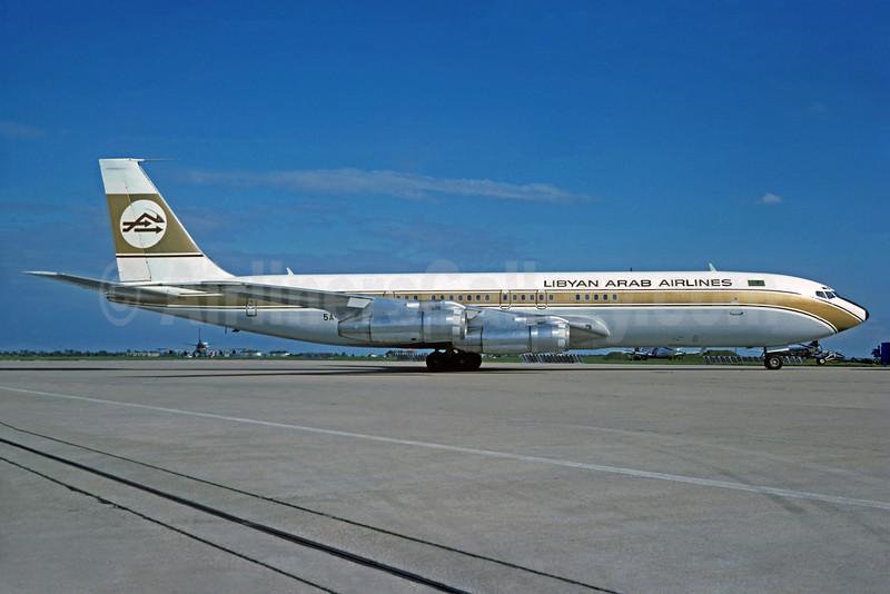 Libyan Arab Airlines (Libyan Airlines) Boeing 707-3L5C 5A-DAK (msn 21228) ORY (Jacques Guillem). Image: 932144.