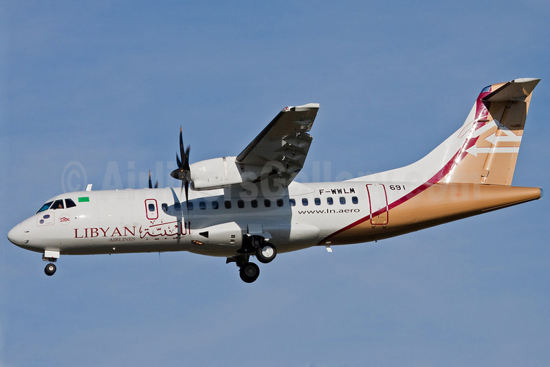 Libyan Airlines ATR 42-500 F-WWLM (5A-LAG) (msn 691) TLS (Guillaume Besnard). Image: 903876.