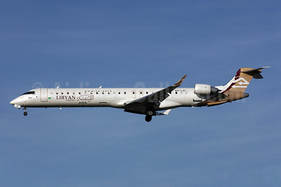 Libyan Airlines Bombardier CRJ900 (CL-600-2D24) 5A-LAC (msn 15122) LHR (Antony J. Best). Image: 903455.