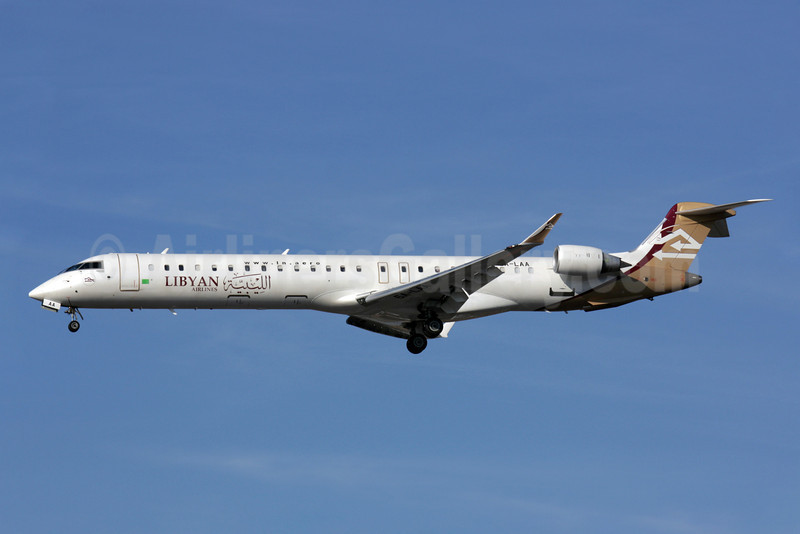 Libyan Airlines Bombardier CRJ900 (CL-600-2D24) 5A-LAA (msn 15120) LHR (Antony J. Best). Image: 902970.