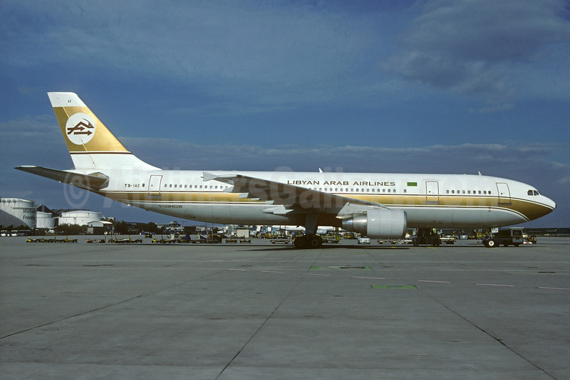 Libyan Arab Airlines (Libyan Airlines) Airbus A300B4-622R TS-IAZ (msn 616) FRA (Christian Volpati Collection). Image: 932145.