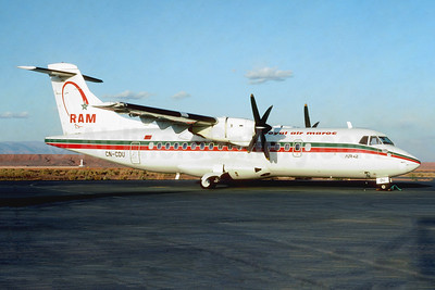 Royal Air Maroc-RAM ATR 42-300 CN-CDU (msn 134) OZZ (Jacques Guillem). Image: 950420.