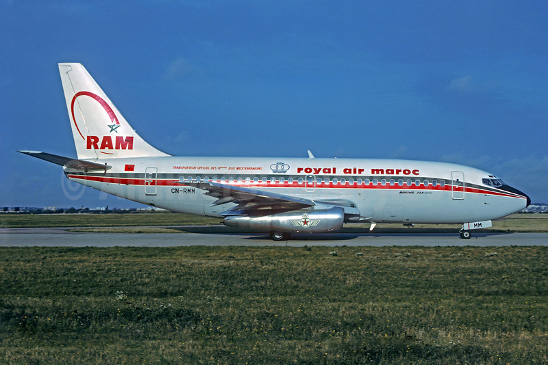 Royal Air Maroc-RAM Boeing 737-2B6C CN-RMM (msn 23049) (9th Jeux Mediterraneens) ORY (Christian Volpati Collection). Image: 920919.