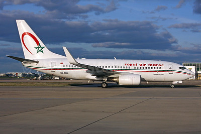 Royal Air Maroc Boeing 737-7B6 WL CN-RNM (msn 28984) LHR. Image: 937598.