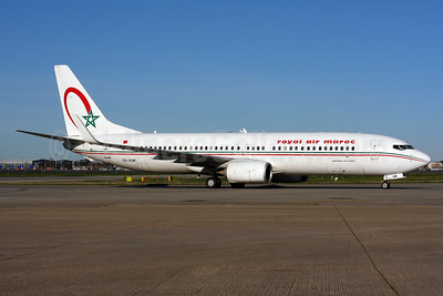 Royal Air Maroc Boeing 737-8B6 WL CN-RGM (msn 33074) LHR. Image: 937364.