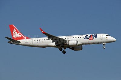 """LAM-Linhas Aereas de Mocambique Embraer ERJ 190-100 IGW C9-EMA (msn 19000301) JNB (Paul Denton). Image: 910222.  Named """"Cobue"""""""