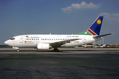 Air Namibia Boeing 737-528 V5-NDI (msn 25228) JNB (Christian Volpati Collection). Image: 943912.