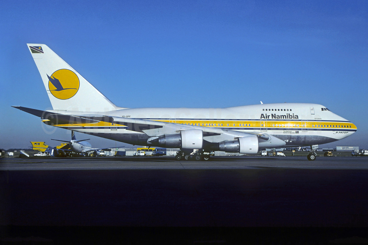 Air Namibia (South African Airways) Boeing 747SP-44 V5-SPF (msn 21263) JNB (Christian Volpati). Image: 932063.
