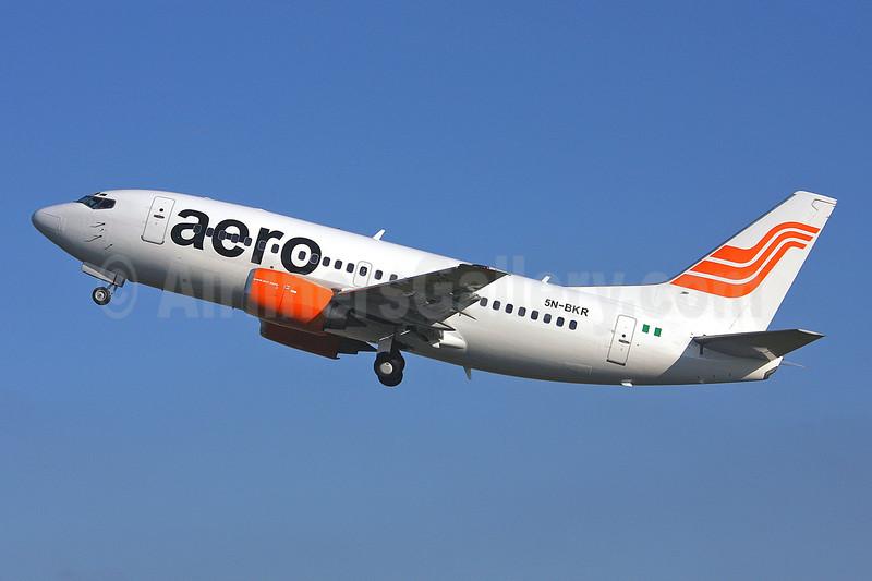 Aero Contractors (Nigeria) Boeing 737-522 5N-BKR (msn 26699) SEN (Keith Burton). Image: 900617.