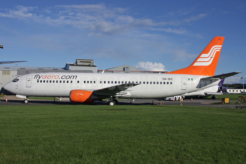 Flyaero.com (Aero Contractors) Boeing 737-4B7 5N-BIZ (msn 24558) QLA (Antony J. Best). Image: 911509.
