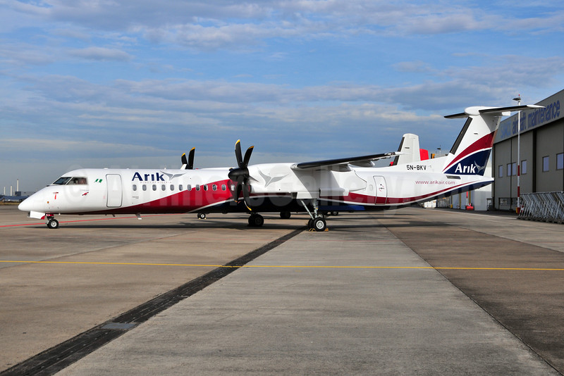 Arik Wings of Nigeria (Arik Air) Bombardier DHC-8-402 (Q400) 5N-BKV (msn 4219) MST (Ton Jochems). Image: 903882.