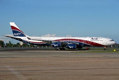 Arik Wings of Nigeria (Arik Air) Airbus A340-542 CS-TFW (msn 910) LHR (Wingnut). Image: 931323.