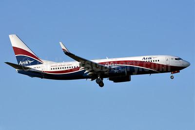 Arik Wings of Nigeria (Arik Air) Boeing 737-8JE WL 5N-MJP (msn 38970) LHR (Richard Vandervord). Image: 906175.