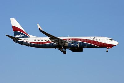 Arik Wings of Nigeria (Arik Air) Boeing 737-8JE WL 5N-MJQ (msn 38971) LHR (Terry Wade). Image: 907875.