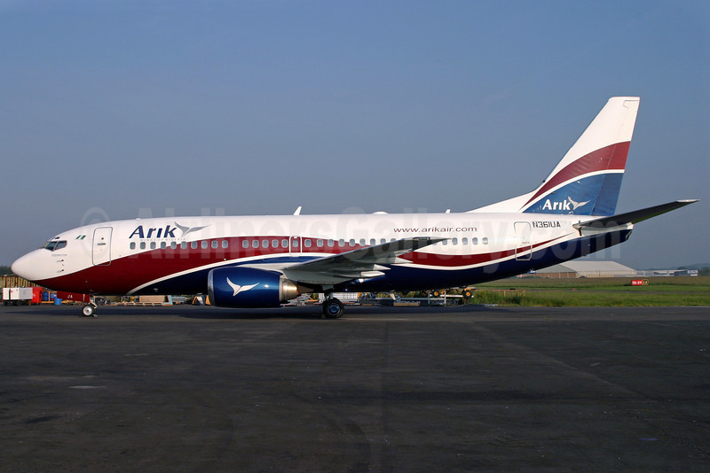 Arik Wings of Nigeria (Arik Air) Boeing 737-322 N361UA (5N-MJB) (msn 24454) SEN (Antony J. Best). Image: 901351.