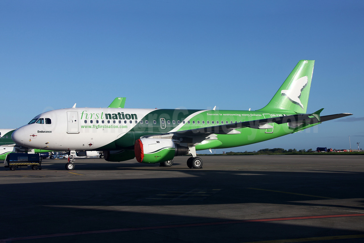 First Nation Airways Airbus A319-113 5N-FND (msn 647) DUB (Greenwing). Image: 912237.