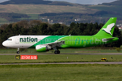 First Nation Airways Airbus A320-212 5N-FNC (msn 497) GLA (Fred Seggie). Image: 906277.