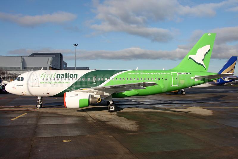 First Nation Airways Airbus A319-113 EI-DVD (5N-FND) (msn 647) DUB (Greenwing). Image: 911153.