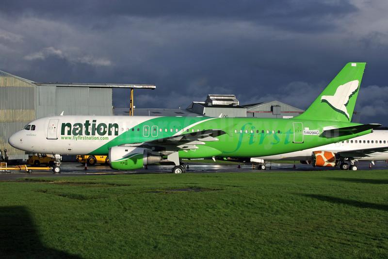 First Nation Airways Airbus A320-212 N409AG (5N-FNA) (msn 409) QLA (Antony J. Best). Image: 909635.