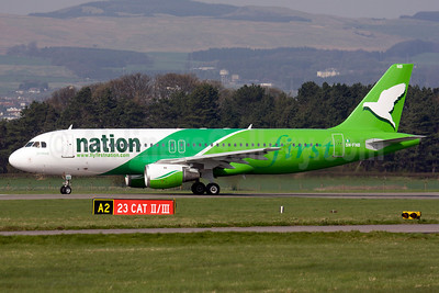 First Nation Airways Airbus A320-212 5N-FNB (msn 466) GLA (Fred Seggie). Image: 906270.