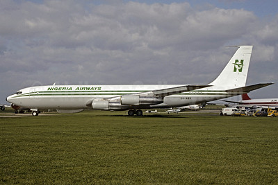 Nigeria Airways Boeing 707-3F9C 5N-ABK (msn 20669) STN (Christian Volpati Collection). Image: 920935.