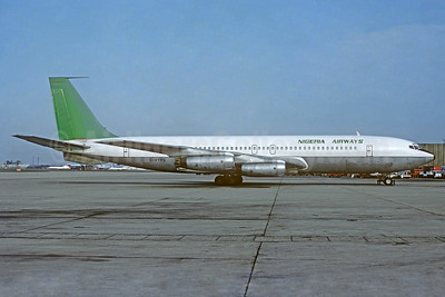 Nigeria Airways (British Midland Airways) Boeing 707-321 G-AYVG (msn 17598) LHR (Christian Volpati Collection). Image: 936693.