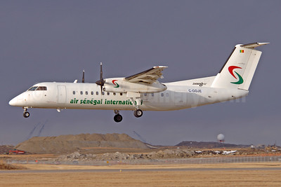 Air Senegal International de Havilland Canada  DHC-8-315 Dash 8 (Q300) C-GOJE (6V-AHL) (msn 556) YYC (Chris Sands). 939515.
