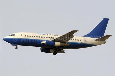 Jubba Airways Boeing 737-247 5Y-BXZ (msn 23516) (Eastok Avia colors) DXB (Paul Denton). Image: 911369.