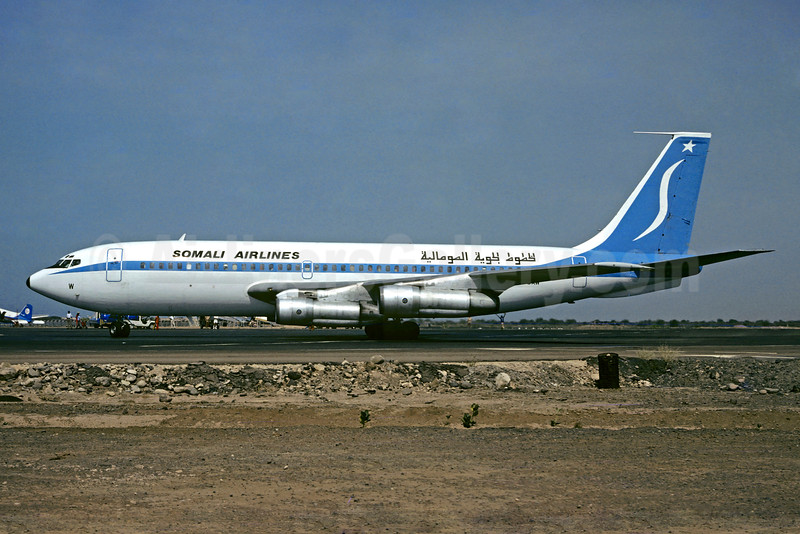 Somali Airlines Boeing 720-023B 6O-SAW (msn 18015)  JIB (Jacques Guillem). Image: 921540.
