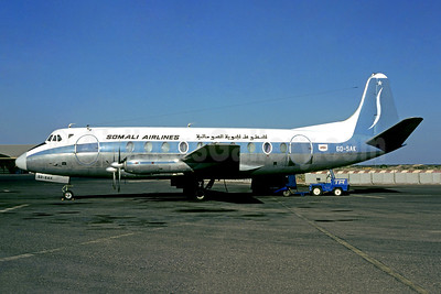 Somali Airlines Vickers Viscount 785D 6O-SAK (msn 325) JIB (Jacques Guillem). Image: 948346.