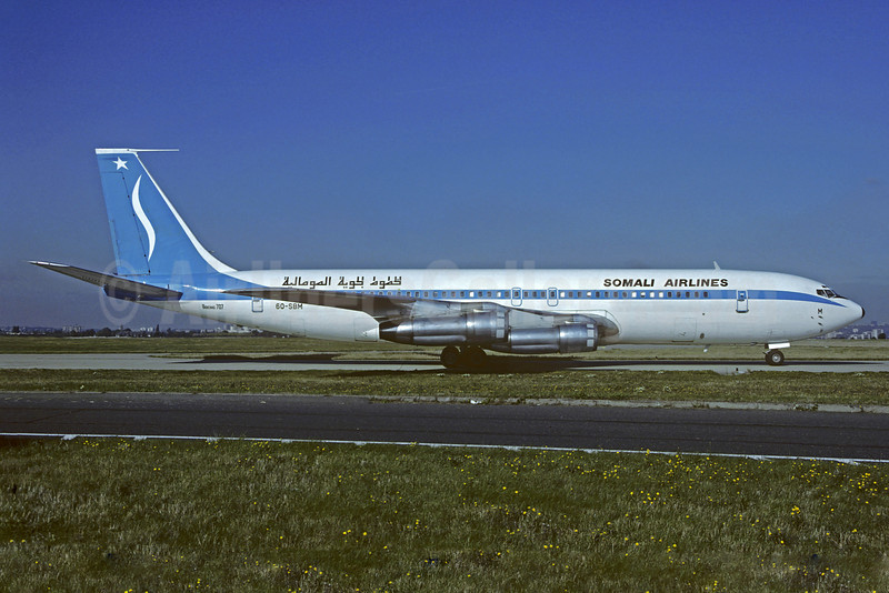 Somali Airlines Boeing 707-338C 6O-SBM (msn 18953) ORY (Christian Volpati). Image: 910490.