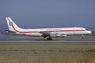 African International Airways McDonnell Douglas DC-8F-54 Jet Trader 3D-ADV (ZS-PAE) (msn 46012) BSL (Christian Volpati Collection). Image: 945613.