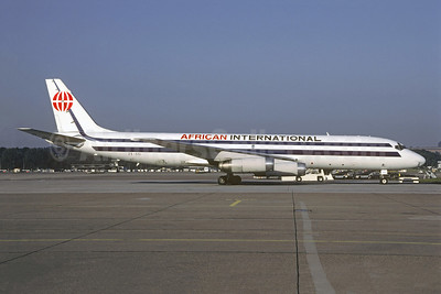 African International Airways McDonnell Douglas DC-8-62 (F) ZS-OSI (msn 46098) (basic Kitty Hawk colors) BSL (Christian Volpati Collection). Image: 920028.