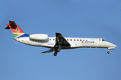 Airlink (South African Airlink) Embraer ERJ 135LR ZS-SNV (msn 145551) JNB (TMK Photography). Image: 920114.
