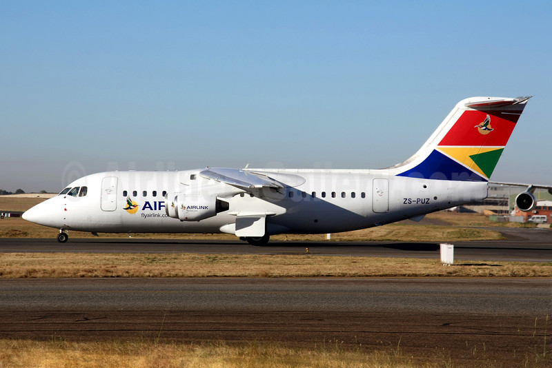 Airlink (South African Airlink) BAe 146-200A ZS-PUZ (msn E2074) JNB (Christian Volpati). Image: 906855.