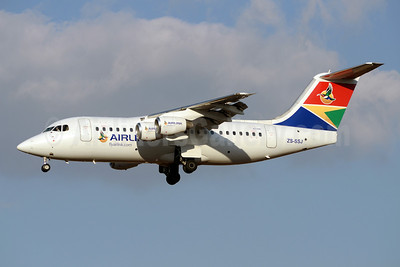 Airlink (South African Airlink) BAe RJ85 ZS-SSJ (msn E2385) JNB (TMK Photography). Image: 920116.