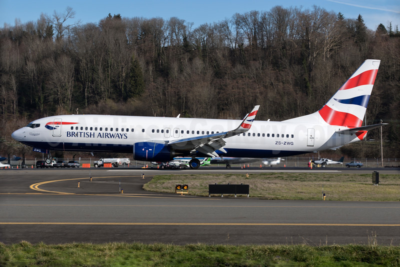 First ever direct build from Boeing to be painted in BA colors prior to delivery