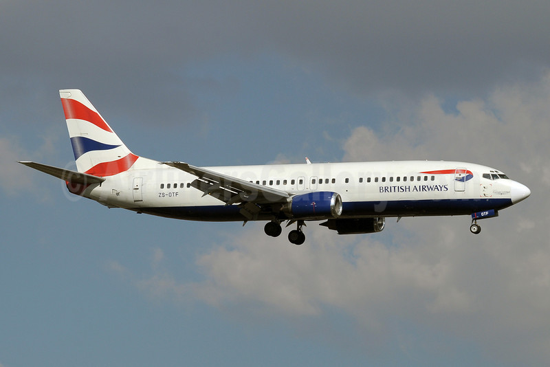 British Airways-Comair (South Africa) Boeing 737-436 ZS-OTF (msn 25305) JNB (Paul Denton). Image: 910401.